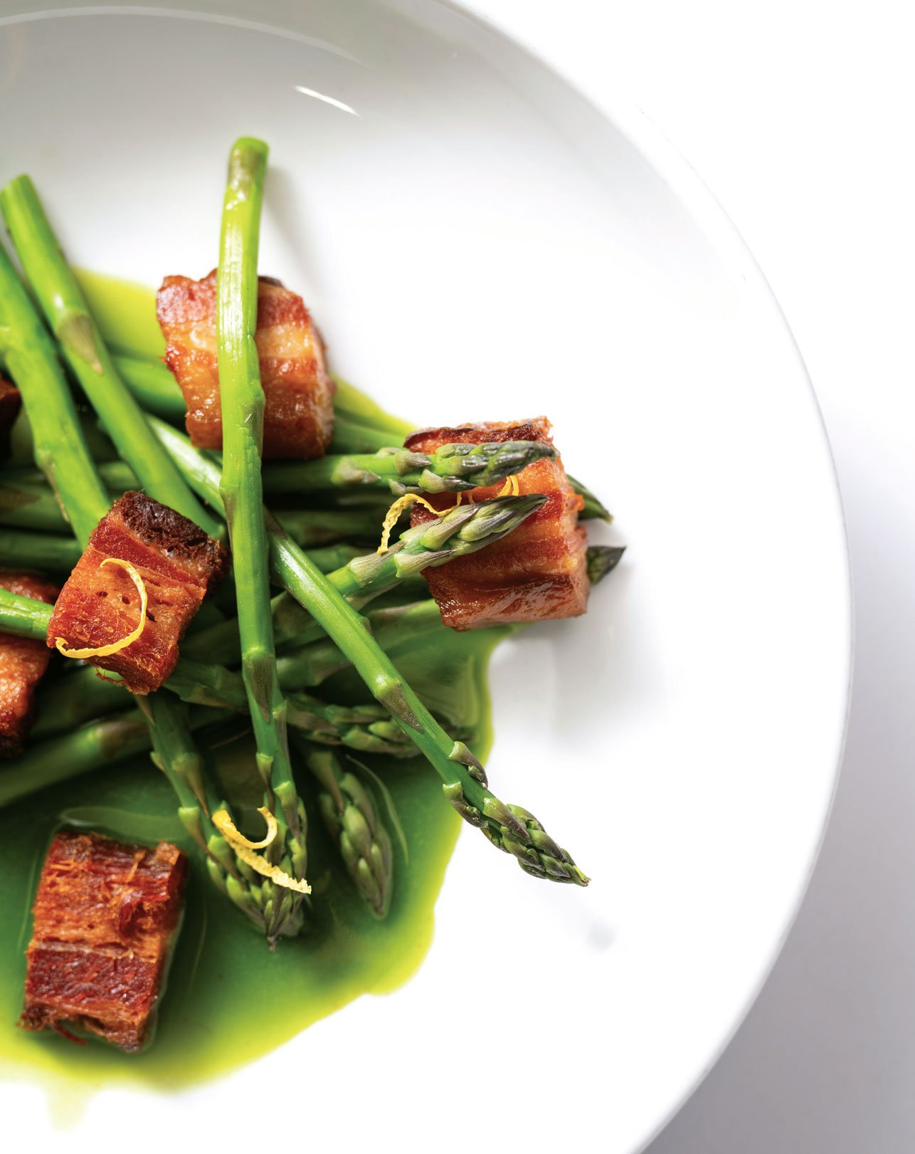Pig and Sprout asparagus dish