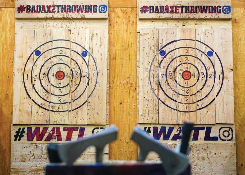 Axe throwing targets at Bad Axe Throwing.