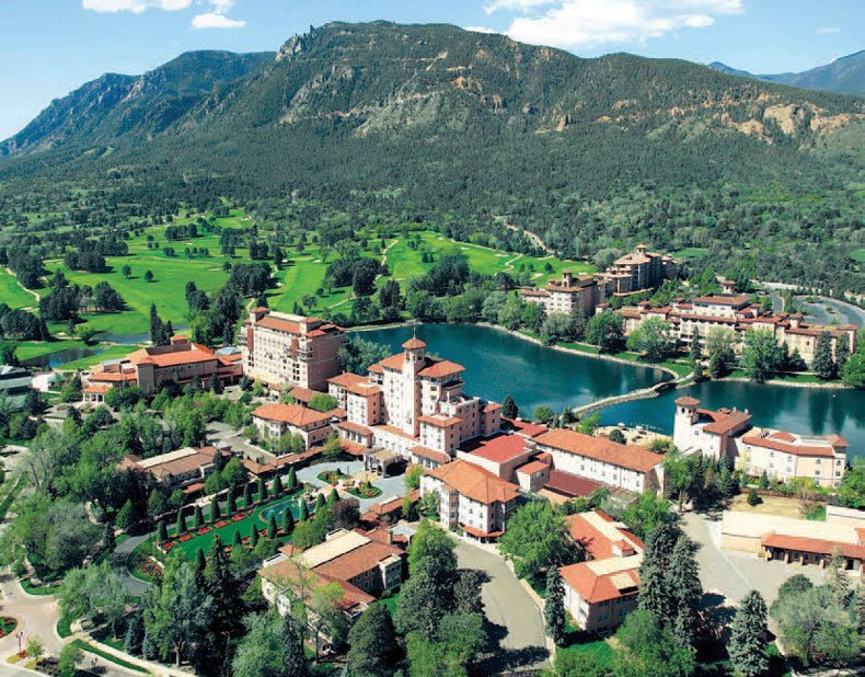 The Broadmoor, one of Colorado Springs' most visited places.