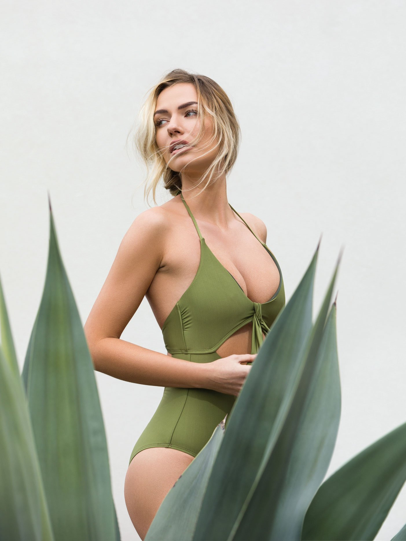 Vicious Young Babes olive swimsuit