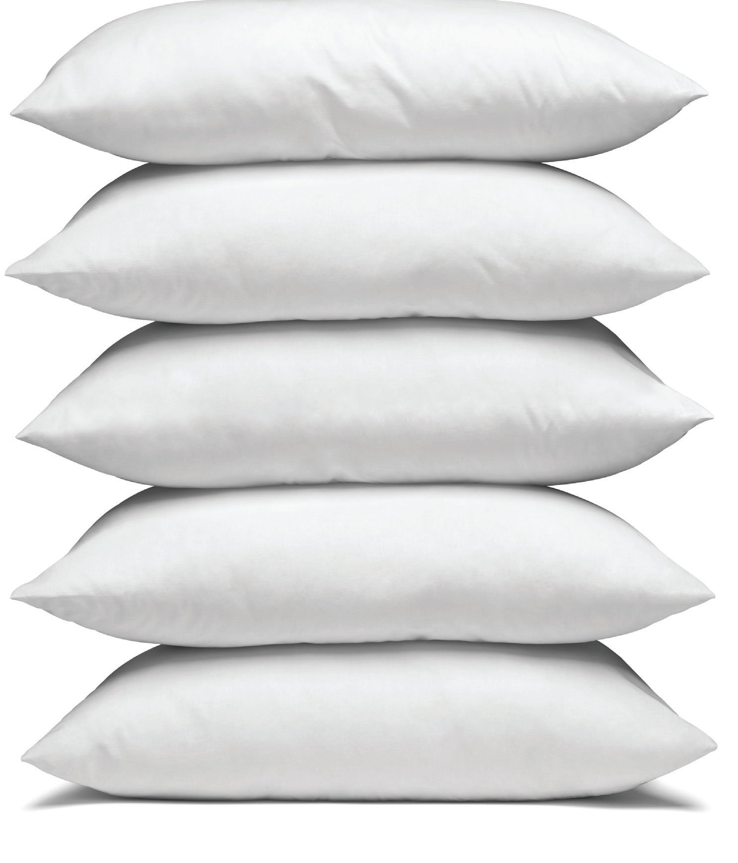 Comfortable pillows stacked high.
