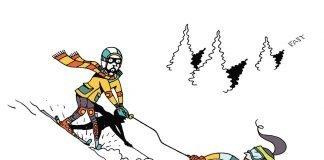 Downhill skiers
