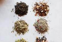 Various loose-leaf teas