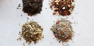 Various loose-leaf teas