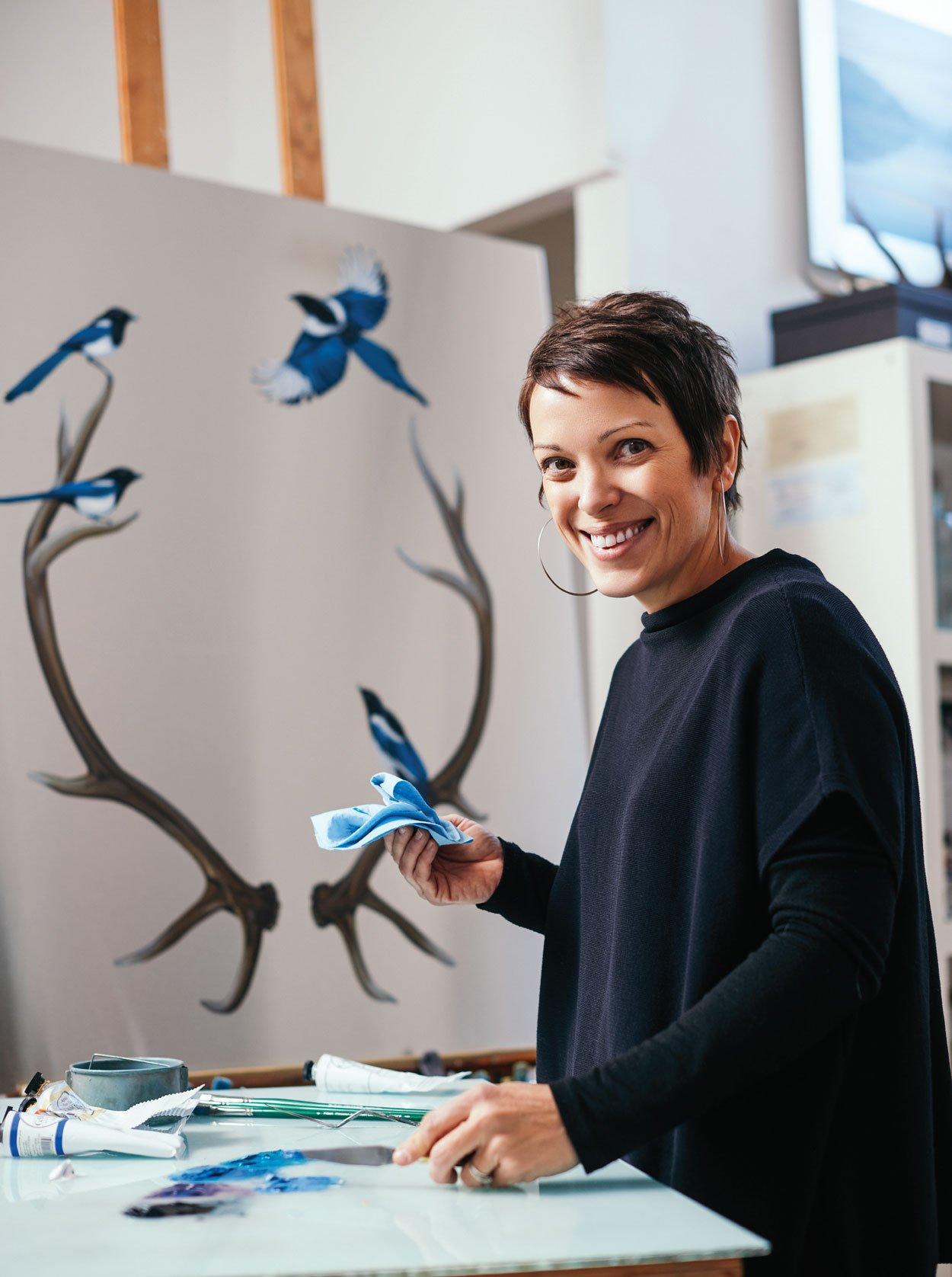 Mai Wyn Schantz in her studio.