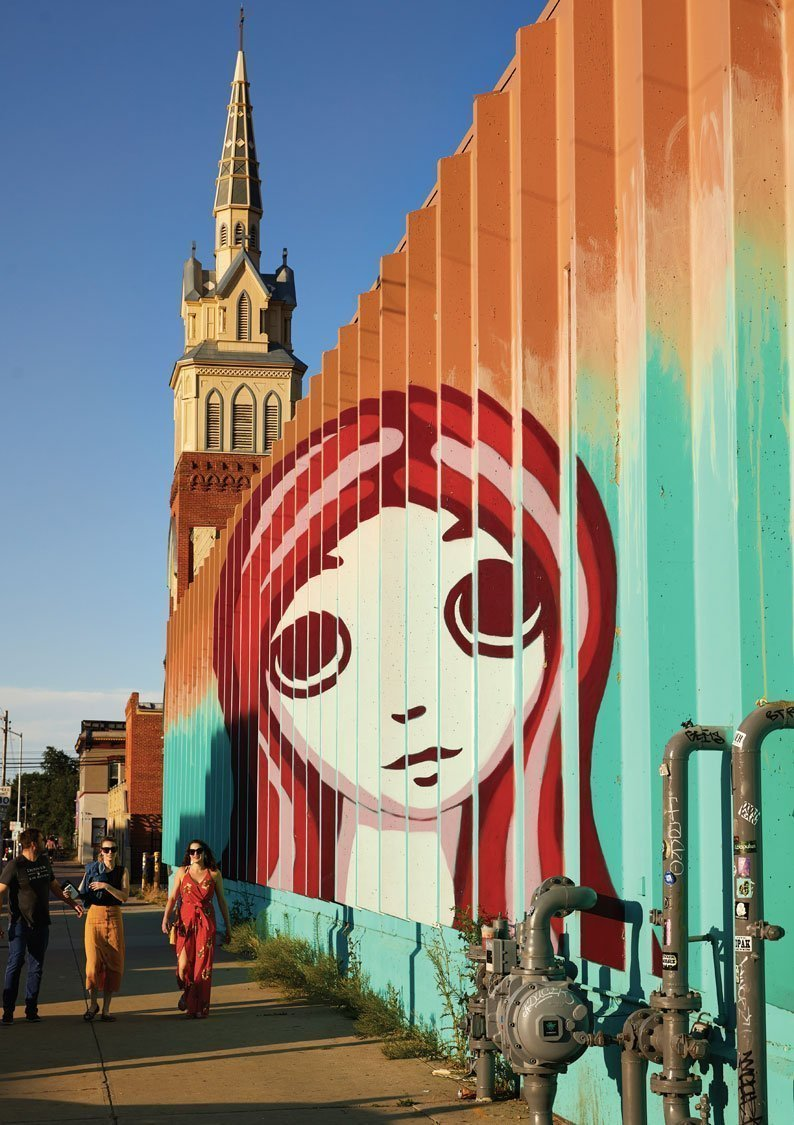 mural-of-girl's-face