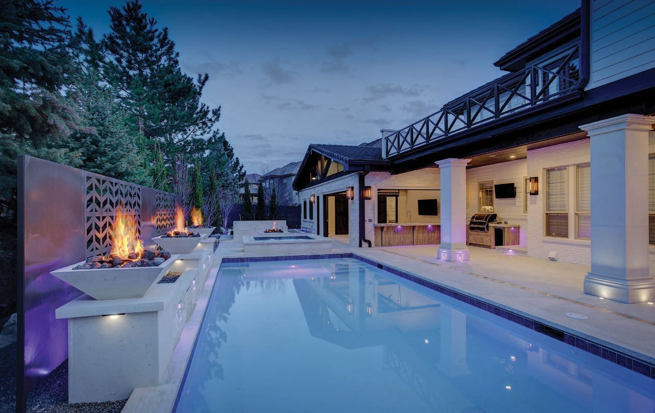 smart and sleek backyard