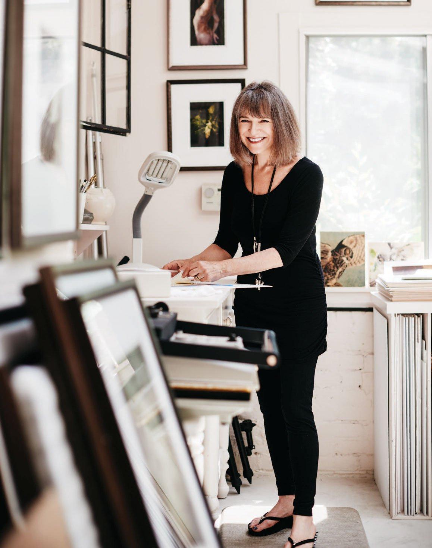 Wendi Schneider in her studio.