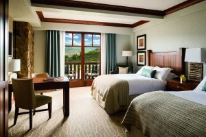 Double hotel room at Ritz Carlton, Bachelor Gulch